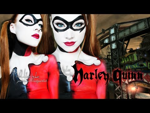 Harley Quinn - Batman (Makeup/Body Paint Tutorial)