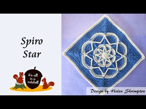 Spiro Star - Crochet Square
