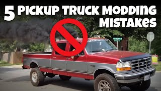 Mistakes Everyone Makes When Modding A Truck
