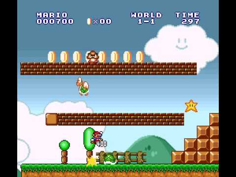 Super Mario All-Stars - Super Mario The Lost Levels World 1-1 (SNES) - User video