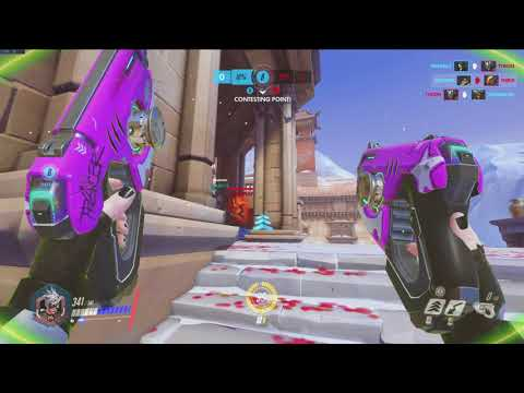 Horrible Aim and Blinking into Walls... (Tracer - Competitive Overwatch)
