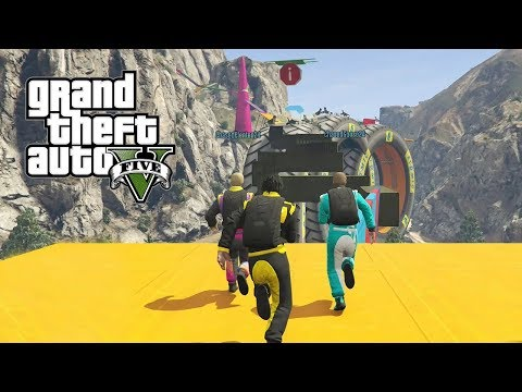 GTA 5 Funny Moments - SUPER INSANE OBSTACLE COURSE! (GTA 5 Online Funny Moments)