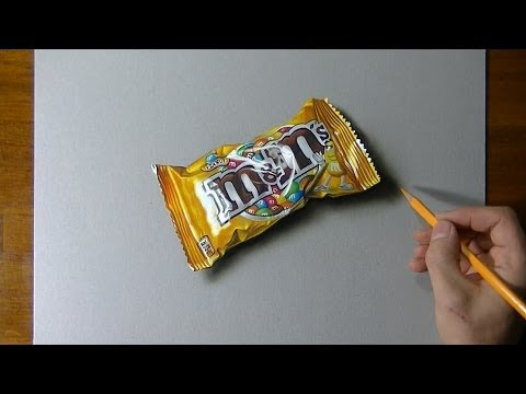 Drawing time lapse: a bag of M&M's