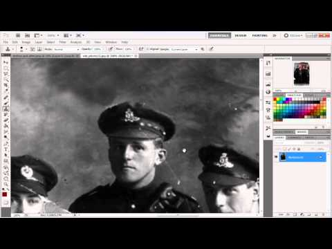How To Restore a Damaged Photo Using Photoshop (Voice Tutorial)