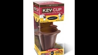 K2V Cup K-Cup Adapter And Reusable Filter For Keurig Vue