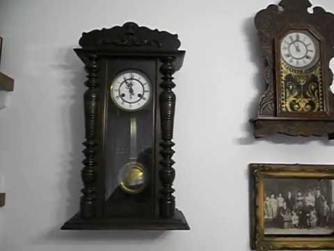 Antiguos relojes a p ndulo de pared youtube for Reloj de pared antiguo