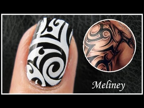 TATTOO NAIL ART DESIGNS
