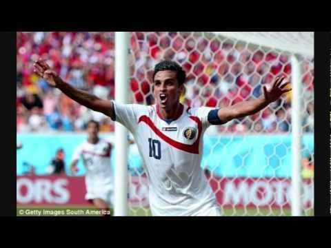 Bryan Ruiz GOAL 1-0 Costa Rica v Italy   LIVE 2014 World Cup
