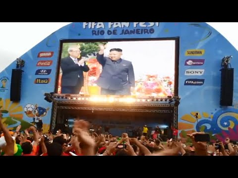 브라질 2014 - North Korea wins the group stage on World Cup - 북조선 [ Subtitles 자막 ]