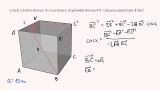 Skalarni produkt – naloga 7