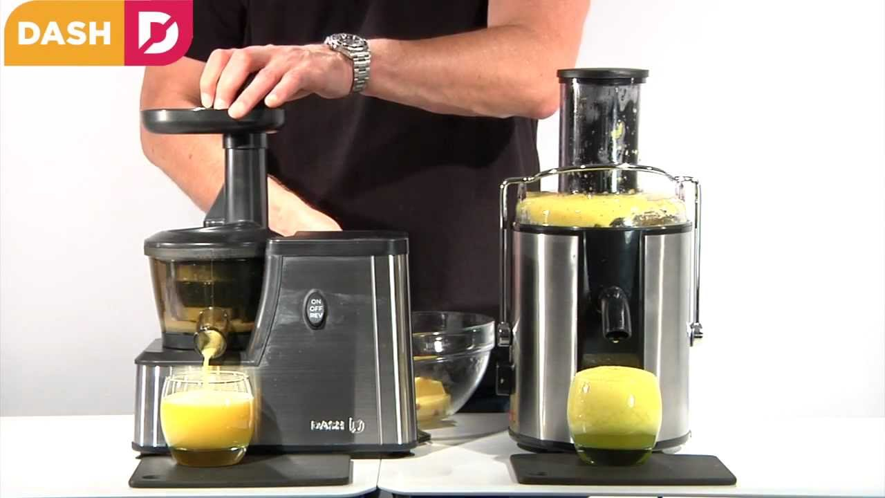 Dash Squeeze Juicer for Slow Juicing Fruits, vegetables and Nuts - YouTube