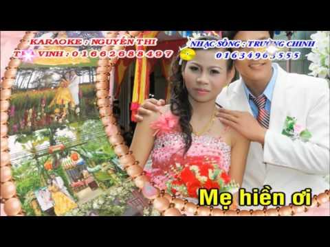 Karaoke   Bóng Dáng Mẹ Hiền   Remix   Tone Nam  {Nhạc Sống   Trường Chinh   Nguyễn Thi}