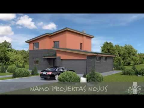 Dviejų aukštų namo projektas Nojus | NPS projektai - namų projektavimas, statyba