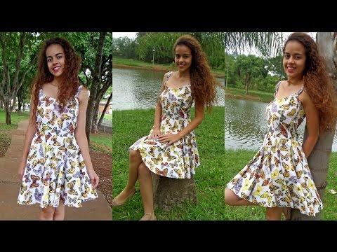 Como costurar Vestido godê Alana Santos Blogger
