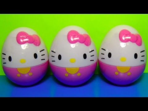 HELLO KITTY  3 Surprise Eggs! Unboxing Kitty eggs surprise for Kids Surprise Collection