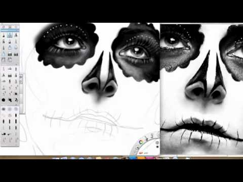 ApnaView - Sugar Skull Speed Drawing