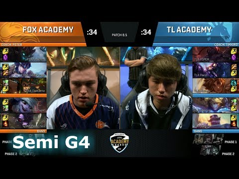Echo Fox Academy vs Cloud 9 Academy | Game 4 Semi Finals NA Academy League Spring 2018 | FOXA vs TLA