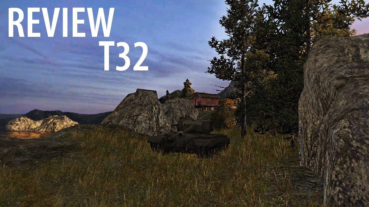 T32 - обзор, 2 боя и 6000 опыта.