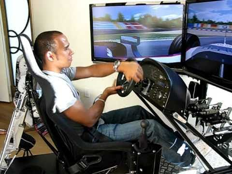 Lewis Hamilton Drives the Motion Pro II Racing Simulator