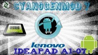 Como Instalar ROM Cyanogenmod 7 En Tablet Ideapad A1-07