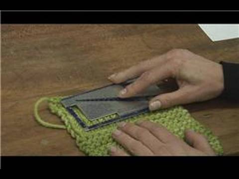 Knitting Tips : Knitting Tips : How to Gauge Knitting Stitches - YouTube