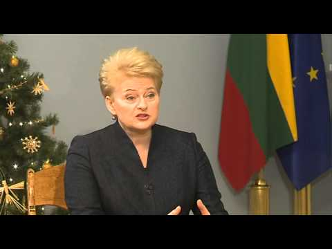 """Prezidentės interviu """"Lietuvos televizijai"""""""