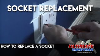 Replacing an electrical socket