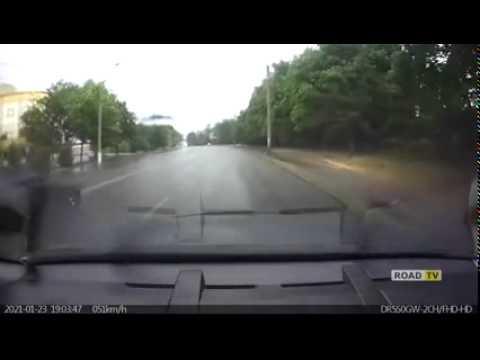 Днепрропетровск ланос выбросило на обочину
