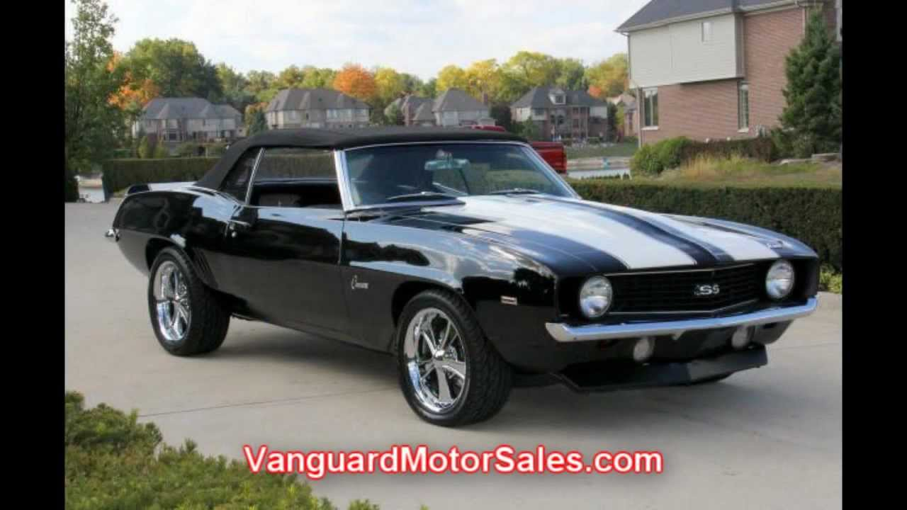 1969 chevy camaro convertible restomod classic muscle car for sale in mi vanguard motor sales. Black Bedroom Furniture Sets. Home Design Ideas