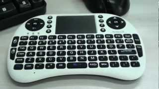 2.4G Wireless Mini Qwert Keyboard 90-Degree Flip Touchpad