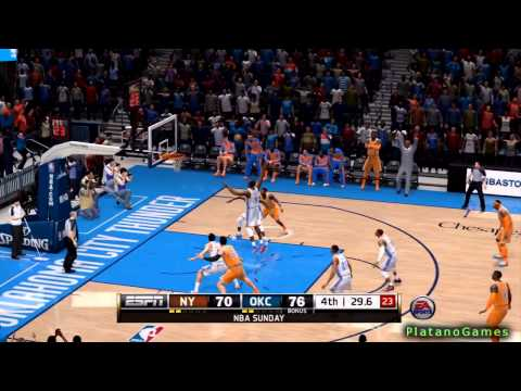 NBA Live 14 PS4 - New York Knicks vs Oklahoma City Thunder - 4th Qrt - HD