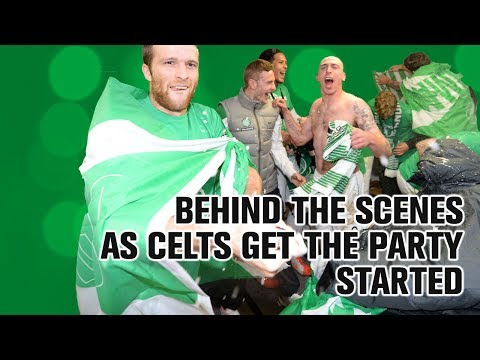 Champagne celebrations! Behind the scenes as Celts are champs!
