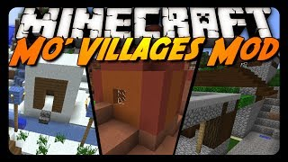 Minecraft Mod Review: MO' VILLAGES MOD!
