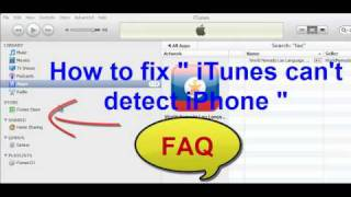"How To Fix "" ITunes Can't Detect IPhone """