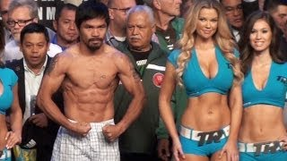 Manny Pacquiao Vs Brandon Rios Official Weigh In Video