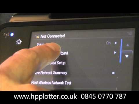 Designjet T520 Series - How to set up wireless printing on your HP printer