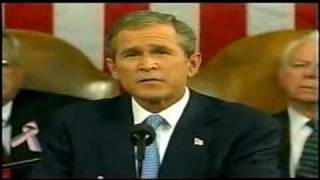 """G.W.Bush Declares """"Freedom And Fear Are At War""""Sep.20"""