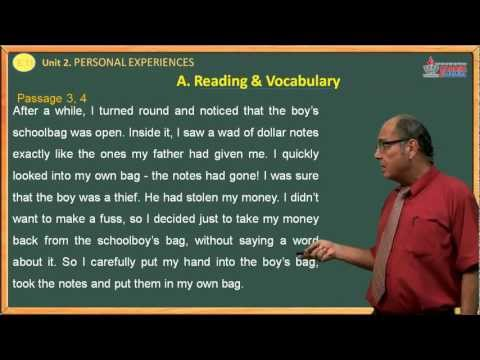 Video Anh văn 11 - Personal  Experience - Reading & Vocabulary - Cadasa.vn