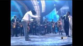 Michael Jackson at the BET 2003 for James Brown HQ