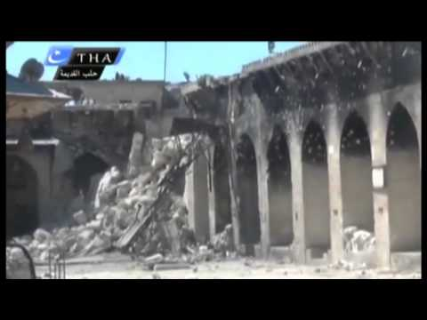 Raw: Landmark Aleppo Mosque Destroyed