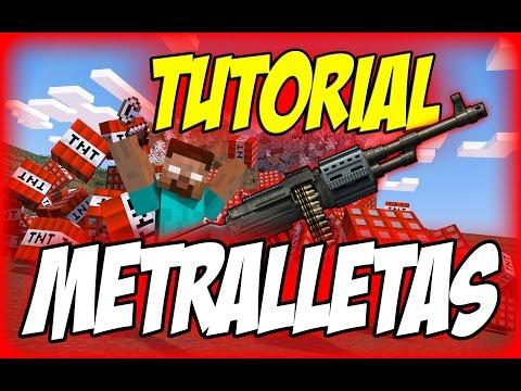 Metralletas y Lanzallamas en Minecraft TUTORIAL - FASTCRAFT