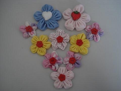 Fuxico - Flor de fuxico redondinha - Passo a passo - Tutorial - Diy