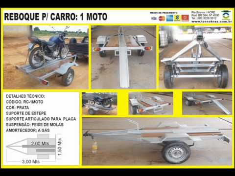 MOTO - www.TORNOBRAS.com.br  (68) 3229-3312 - CARRETINHA CARRETA CARROCINHA SEMI-REBOQUE