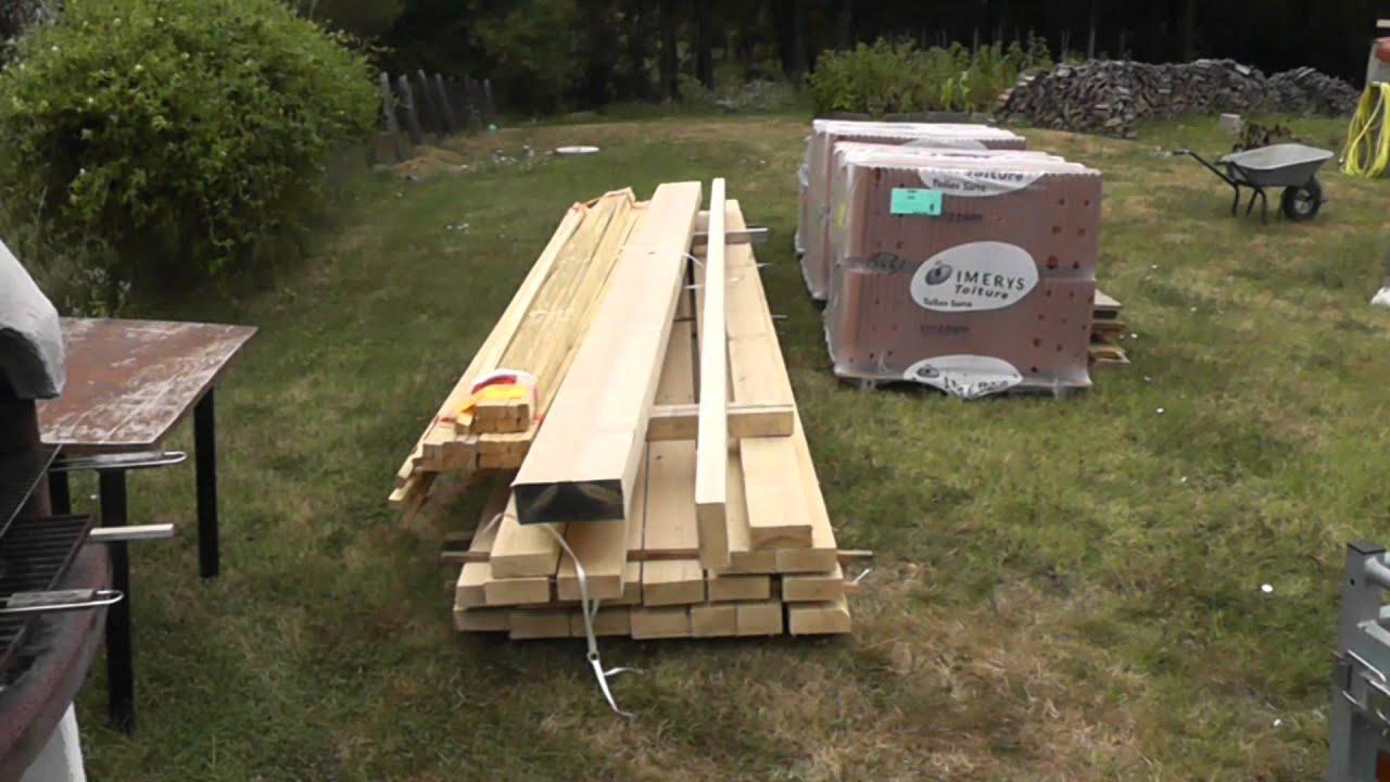 tutoriel construction porche charpente toiture youtube. Black Bedroom Furniture Sets. Home Design Ideas
