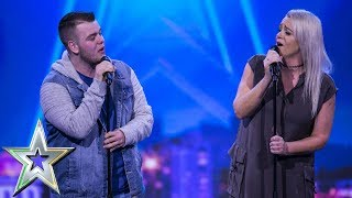 Lucy presses her Golden Buzzer for mother & son duo Sharon and Brandon | Ireland's Got Talent 2019