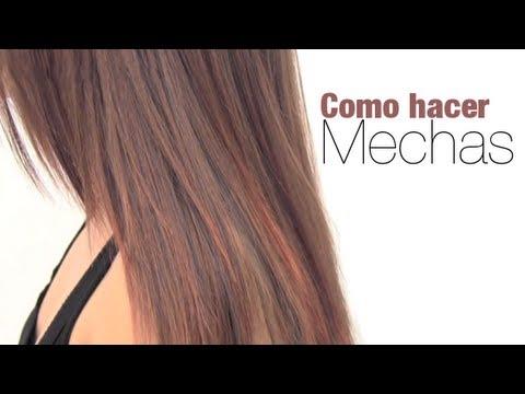 ¿Cómo hacer mechas en el cabello?