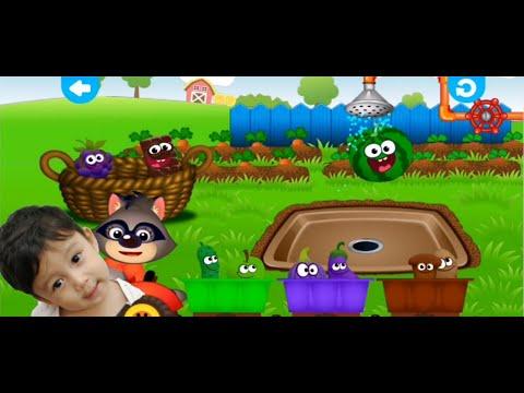 Belajar Nama Buah Dan Sayuran In Inggris Bersama Fateh GameVlog #2 | Learn Fruit and Color For Kids
