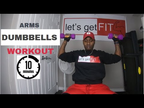 DUMBBELL  ARM WORKOUT / Build and Tone Your Arms ( EASY+ BEGINNERS )
