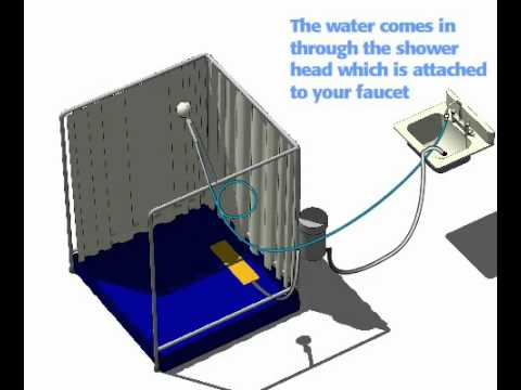 Indoor Portable Shower Stall Youtube