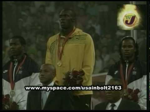 USAIN BOLT 200 METERS 19.30 BEIJING OLYMPICS 2008 MEDAL CEREMONY